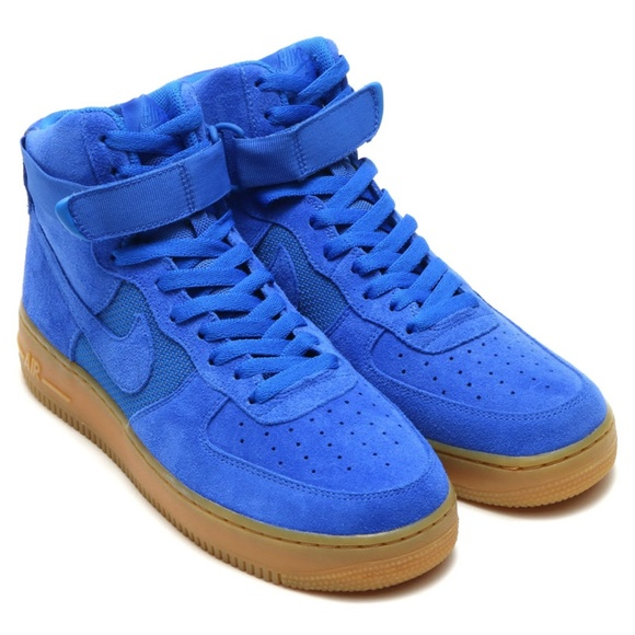 size 40 c7e51 55a4f Nike Air Force 1 AF1 High Suede Hyper Cobalt Blue NWT